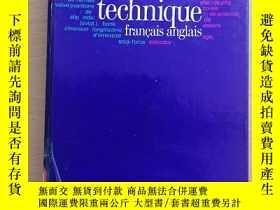 二手書博民逛書店dictionnaire罕見technique francais anglais法英技術字典Y394745 G