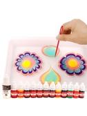 水畫顏料 水拓畫套裝浮水影畫工具材料兒童安全畫畫涂鴉濕拓畫 快速出貨