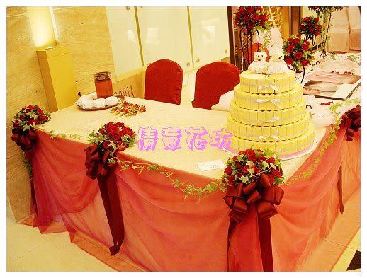 婚禮會場佈置~情意花坊網路花店~夢幻婚禮鮮花佈置的浪漫只要24999元北縣市皆可服務!