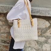 夏季 包包女新款 仙女蕾絲帆布包肩背包 大包托特包文藝手提包袋 超值價