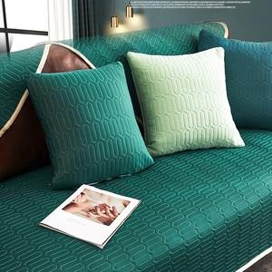 【新作部屋】冰絲乳膠涼感沙發墊-雙人坐墊(多款顏色可挑選)清雅湖綠/雙人坐墊
