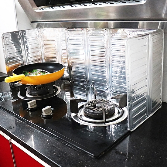 擋油板 鋁箔 可摺疊 隔油鋁板 炒菜隔板 防濺油 廚房 瓦斯爐 可摺疊鋁箔擋油板 【H017-1】慢思行