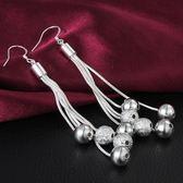925純銀耳環 (耳針式)-多線圓珠生日情人節禮物女配件73au31【巴黎精品】
