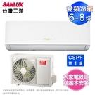 台灣三洋 6-8坪變頻冷暖分離式冷氣 SAE-V41HR/SAC-V41HR~含基本安裝