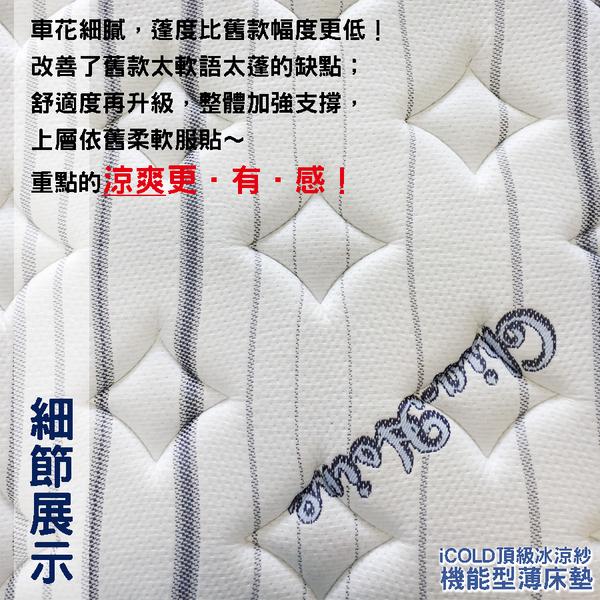 【嘉新名床】厚10公分/ 雙人加大6尺【加硬款。日本iCOLD雙倍冰涼床墊 】天然水冷膠安全舒適透氣