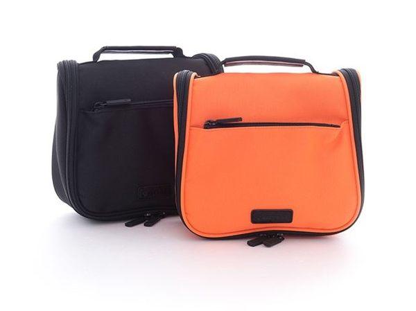 Backbager 背包族【美國 AIRWALK】小方塊 旅行收納 盥洗包/萬用包 橘色
