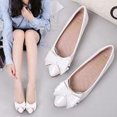 豆豆鞋女夏內增高尖頭平底小碼31 32 33冬秋坡跟漆皮單鞋白色女鞋禮物限時八九折