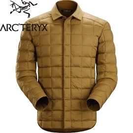 【ARC TERYX 始祖鳥 男 Rico Shacket 花粟鼠棕 羽絨襯衫夾克】 16119/羽絨夾克