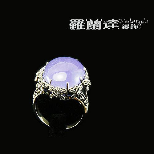 戒指925純銀。復古系列-蝶舞紛飛---馬克賽石+紫玉髓-戒圍#13,內徑約1.75CM。【羅蘭達銀飾】