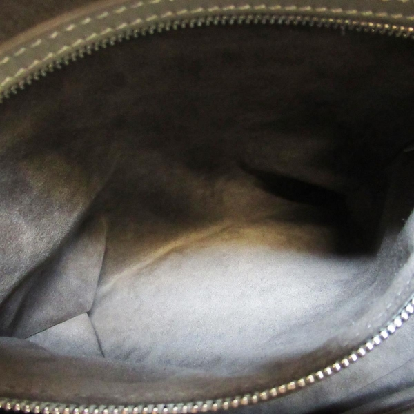 路易威登 LOUIS VUITTON LV 灰色羊皮刺繡手提肩背包 Antheia Ixia M97070