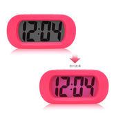 出口歐美 高品質硅膠大屏LCD鬧鐘 抗震電子鐘 大數字顯示鬧鐘【博雅生活館】