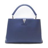 LOUIS VUITTON LV 路易威登  藍紫色牛皮手提包 CAPUCINES MM M94390 【BRAND OFF】