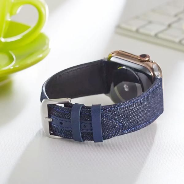 Apple Watch Series 錶帶 S6錶帶 S5錶帶 S4錶帶 S3錶帶 丹寧 牛仔紋 蘋果錶帶 38mm 40mm 42mm 44mm