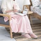 【專區滿618享8折】棉朵舒舒寶貝蓋毯組-兔寶-生活工場