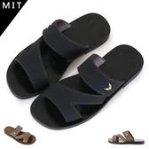 男款 合成皮釦飾 鏤空透氣 舒適柔軟 平底拖鞋 休閒拖鞋 MIT製造 59鞋廊