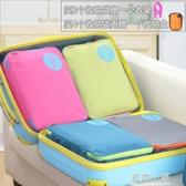 加厚手提行李箱旅行收納袋防水衣物收納包分類整理袋旅行收納神器 藍嵐
