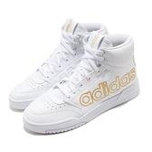 adidas 休閒鞋 Drop Step XL 白 金 男鞋 大LOGO 運動鞋 高筒 【ACS】 FV4874