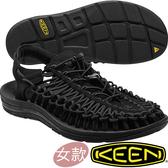 KEEN 1014099黑色 Uneek 女專業戶外護趾編織涼鞋 水陸兩用繩編鞋/沙灘戲水拖鞋 東山戶外