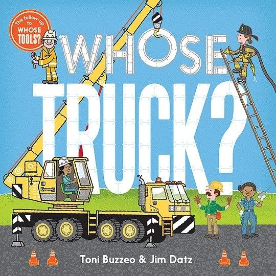 【麥克書店】WHOSE TRUCK?/ 英文繪本硬頁書《翻翻書》