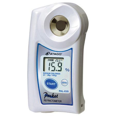 TECPEL  鹽度/鹹度計 日本 ATAGO 愛宕 PAL-03S 數位袖珍型 防水/自動溫度補償~公司貨 泰菱