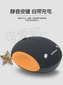 滑鼠 可愛女生無線滑鼠可充電靜音適用蘋果小米華為聯想惠普三星筆記本 歐歐