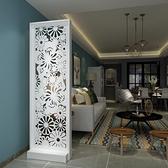 原創歐式蝴蝶花玄關櫃隔斷櫃裝飾櫃簡約現代雙面屏風座屏折屏 店慶降價