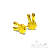 威世登 黃金兔兔貼耳式耳環(矽膠耳束) 金重約0.47~0.49錢 GF00389-EEX-FIX