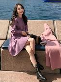 秋冬季初秋款新款155小個子女裝洋裝a字針織毛衣打底裙子潮 【傑克型男館】