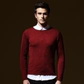 長袖針織衫-素色百搭型男潮流男針織毛衣73ik74【時尚巴黎】