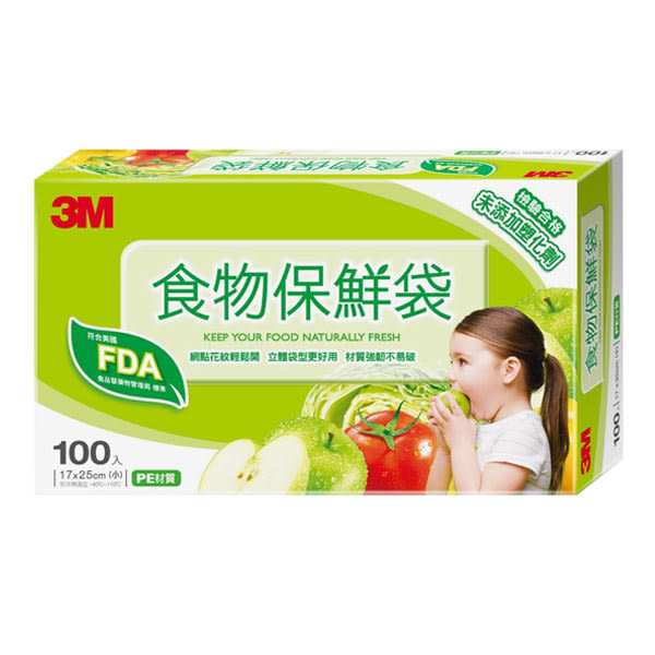 3M 食物保鮮袋(小)盒裝100EA【屈臣氏】