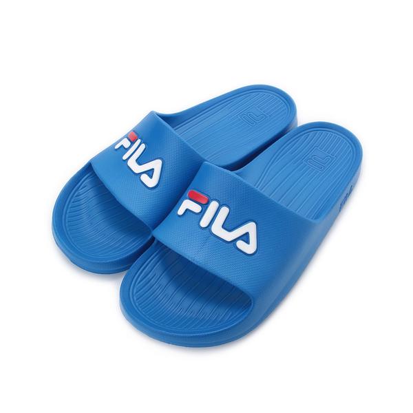 FILA 一體成型運動拖鞋 寶藍 4-S355Q-321 男女鞋 鞋全家福