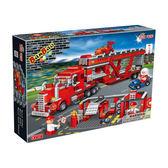 運輸系列 NO.8762紅色貨櫃車 大盒【BanBao邦寶積木楚崴】