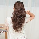 馬尾假髮韓系假髮馬尾綁帶式 長直髮逼真髮絲玉米馬尾假髮女 長捲髮大波浪接髮