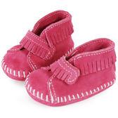 美國正品~MINNETONKA ~粉紅色一體成形流蘇麂皮莫卡辛嬰兒鞋 在台24H 寄出