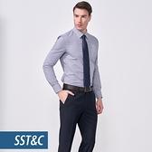 SST&C 男裝 細直條藍色襯衫   0312010017