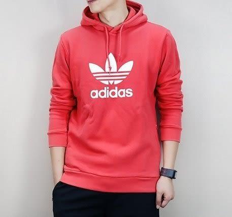 adidas Originals 愛迪達 三葉草 粉橘 橘紅 帽T 連帽T桖 大學T 棉T 鹿晗 cx1899/澤米