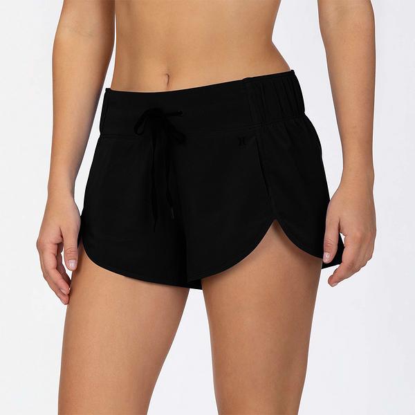 HURLEY|女 AQUAS BOARDSHORT BLACK 海灘褲 (黑)