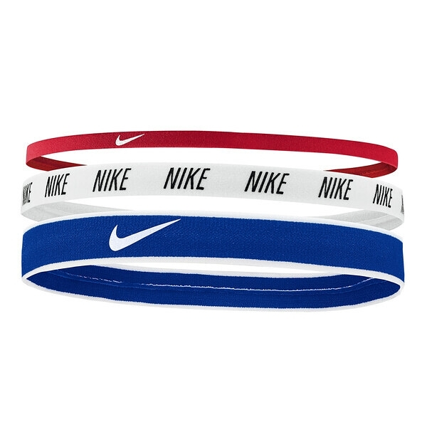 Nike Mixed Width [N0002548905OS] 髮帶 髮束 運動 止滑 3入 紅白藍