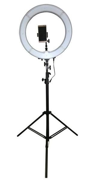【含190cm 腳架】RL-18 LED 18吋 LED環燈 可調光 環形攝影燈 直播 網紅 新祕 美甲 美髮沙龍 棚燈