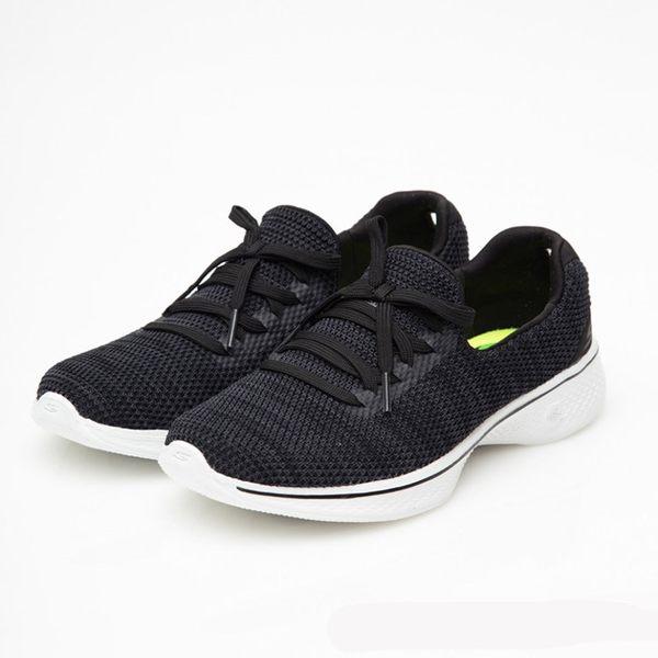 SKECHERS 女款 Go Walk 4 健走鞋14919 BKW / 城市綠洲 (美國品牌、針織網布、避震、輕量)