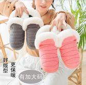 室內拖鞋 棉拖鞋女冬季包跟室內毛絨保暖月子家居厚底情侶居家用冬天棉鞋男