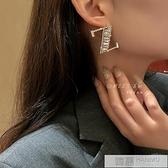 字母個性夸張耳環2021年新款潮鋯石耳釘氣質歐美高級感大氣耳飾女 萬聖節狂歡