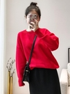 圣誕節紅色毛衣女2019新款韓版chic...