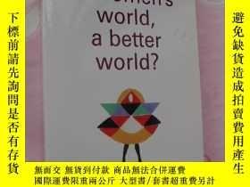 二手書博民逛書店簽名本罕見a women s world,a better wo