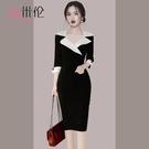 高端氣質名媛春秋洋裝女2021春裝新款修身顯瘦包臀春款女裝裙子 設計師