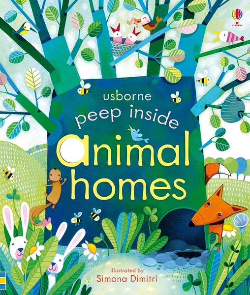 【科學操作書】PEEP INSIDE ANIMAL HOMES   / 硬頁精裝
