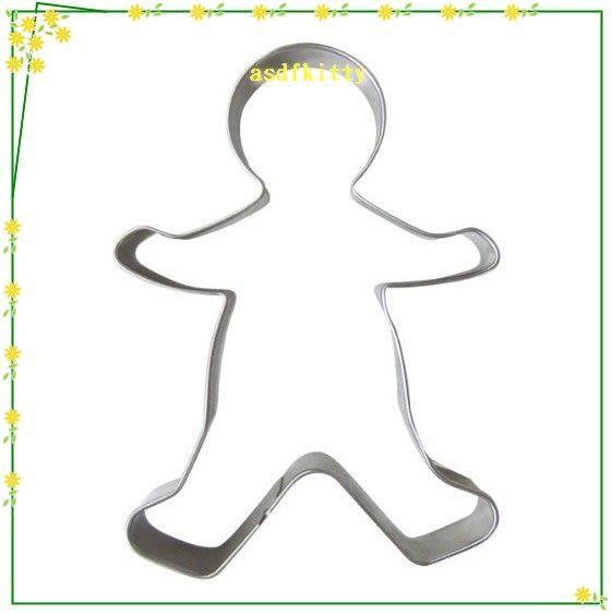 廚房【asdfkitty】貝印KAISER不鏽鋼模型-薑餅人爸爸單入-可做餅乾.鳳梨酥.壓起司.蔬菜-德國製