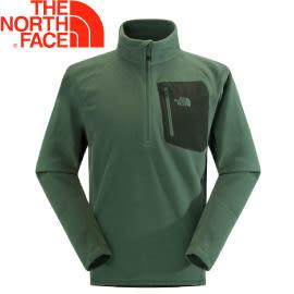 【The North Face 男款 刷毛套頭衫 鴨綠】NF00CGM2/刷毛立領衫/長袖立領/刷毛衣★滿額送