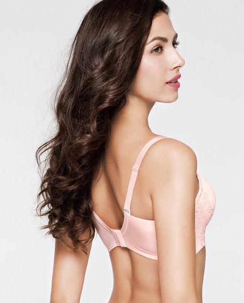 纯色光面无痕3/4薄模杯胸罩-ami0015