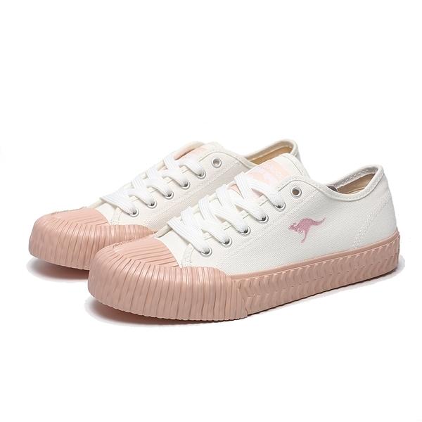 KANGAROOS 休閒鞋 CRUST 白粉 刺繡LOGO 帆布 餅乾鞋 女 (布魯克林) KW01553